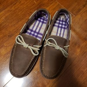 Brand new mens genuine leather slippers